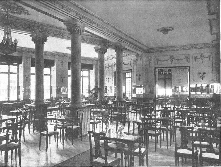 Salón de té de la Casa Molinero en la Gran Vía de Madrid.   Fecha:  20 de Octubre de 1917