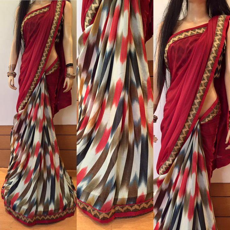 Designer Fancy Georgette Sarees   Buy Online Sarees   Elegant Fashion Wear