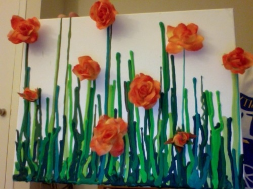 DIY Art- Melted Crayons