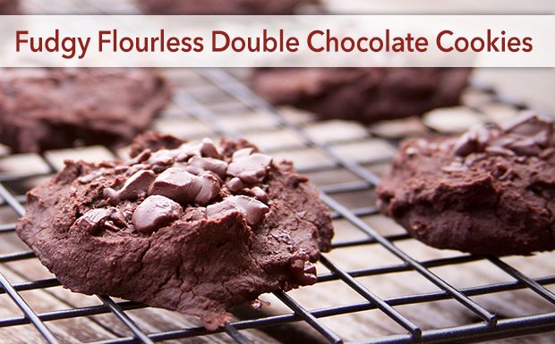 Fudgy Flourless Double Chocolate Cookies
