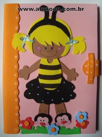 Moldes para capa de caderno em EVA - Educação Infantil - Aluno On