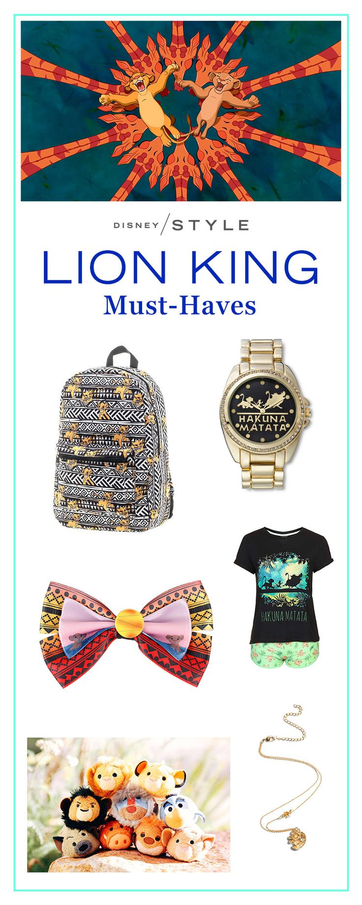 10 items Lion King fans need right now. | If you love Lion King, you need these accessories and fashions inspired by Simba and gang. | [ http://blogs.disney.com/disney-style/fashion/2016/02/27/10-things-lion-king-fans-need-right-now/#lion-king-shirt ]