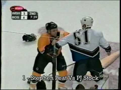 Here are the top ten hockey fights of the decade, as voted by the members of www.hockey-fights.com