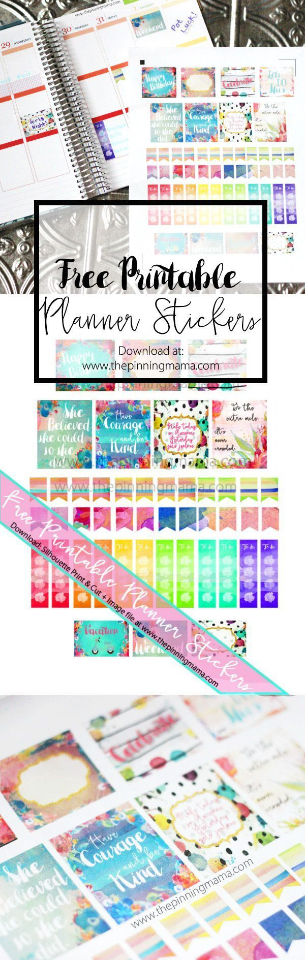 Free Printable Planner Stickers                                                                                                                                                                                 More