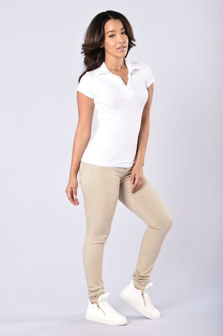 - Available in Black, Khaki, and Navy - Straight Leg Pant - Mid Rise - 5 Pocket Design - Stretch Material - 97% Cotton 3% Spandex
