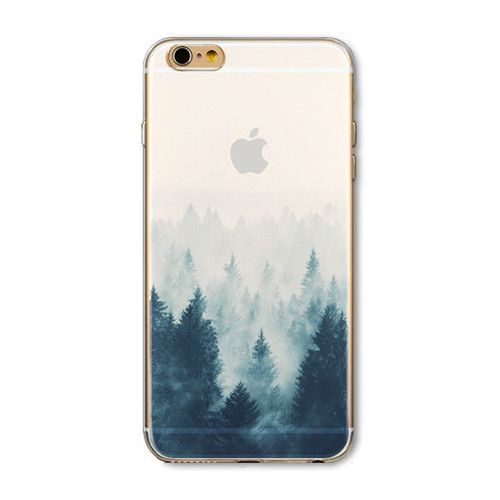 """Fundas Phone Case Cover For iPhone 6 6s 4.7"""" Ultra Soft TPU Silicon Transparent Flowers Animals Scenery Mobile Phone Bag Cover"""