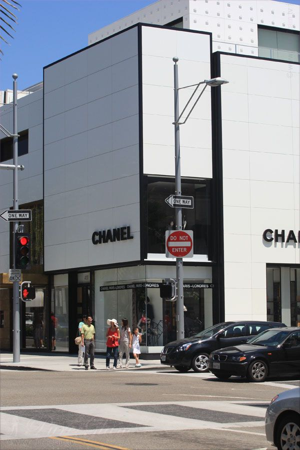 Chanel Store... near Rodeo Drive and Beverly Wilshire Hotel - Beverly Hills, Los Angeles, LA, California, USA