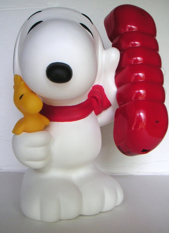 Vintage Snoopy Telephone Bank Collectible Peanut by QVintage, $45.00