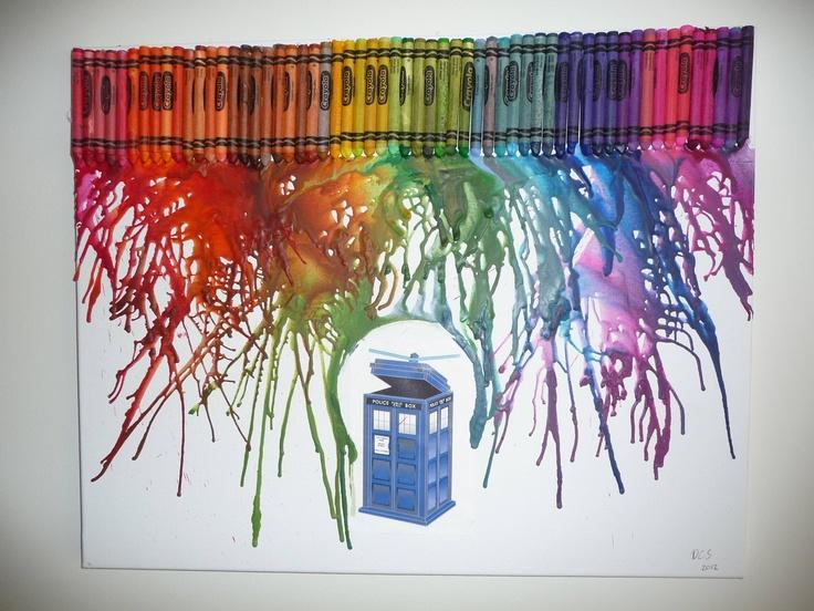 Tardis - Crayon Art