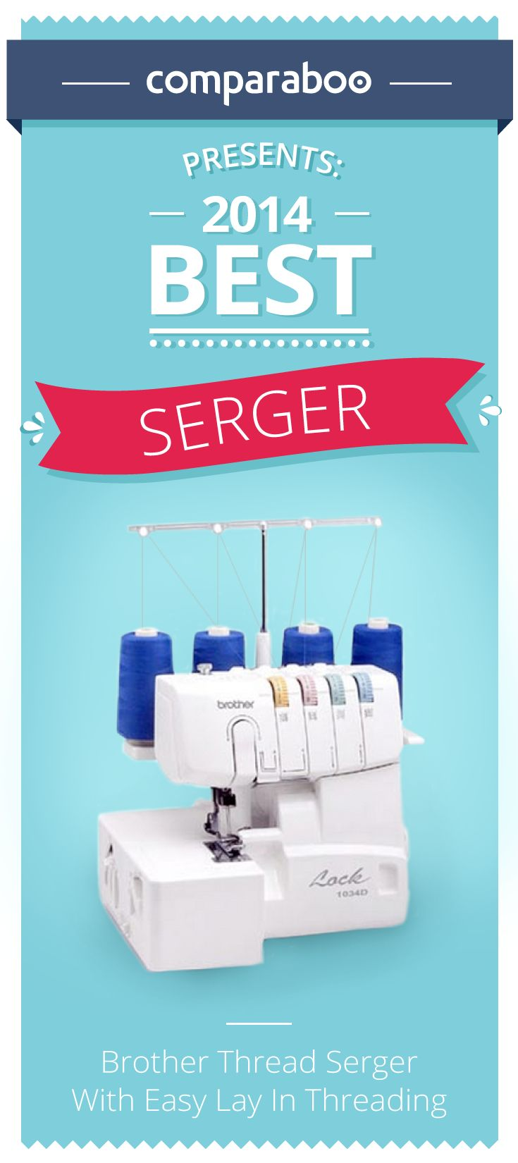 Thread sergers, or overlockers, are an excellent addition to your home-sewing kit. They stitch fabric like traditional sewing machines, but additionally offer a wide variety of stitch patterns for creative designs. They also have a cutting blade that trims excess material, leaving you with a clean, professional seam every time. Various types of thread sergers exist today, so Comparaboo has put together this shopping guide to get you serging in no time. #sewing…