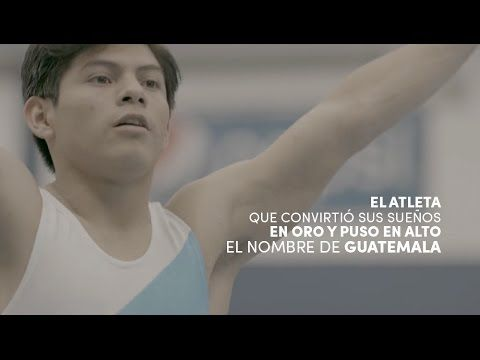 Jorge Vega - Gimnasta que representa la bandera de Guatemala