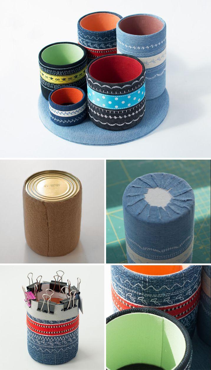 Making a Sweet Organizer of Cans | Делаем настольный органайзер из жестяных банок
