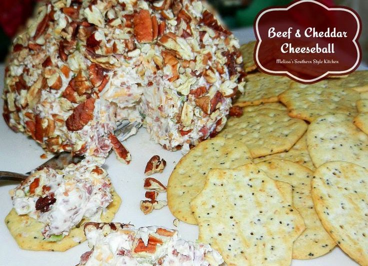 Melissa's Southern Style Kitchen: Beef & Cheddar Cheeseball