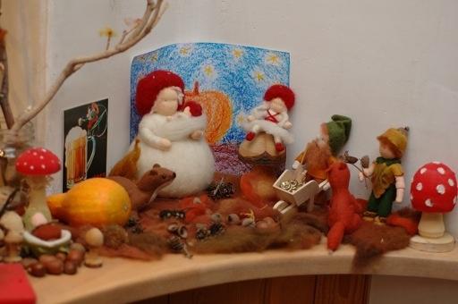 autumn / fall nature table