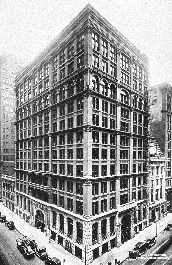 Home Insurance Bldg, Chicago - 1st Iron and steel frame bldg, Le ...
