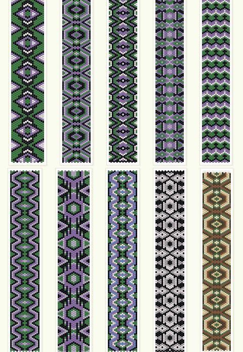 Free peyote patterns   anabel-beadpatter... -  http://www.jewelryamazing.com/homemade-jewelry/free-peyote-patterns-anabel-beadpatter/