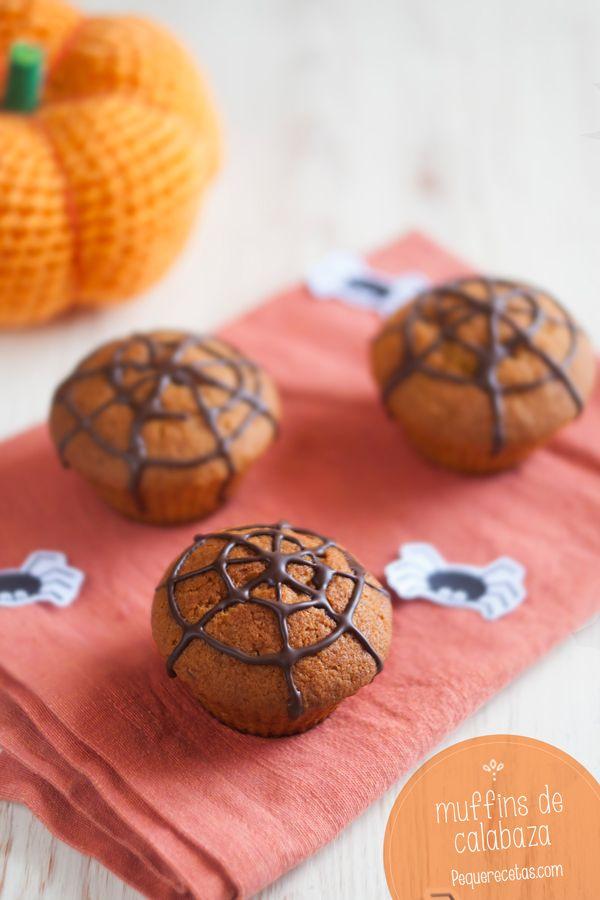 Muffins de calabaza ¡una receta ideal para Halloween!