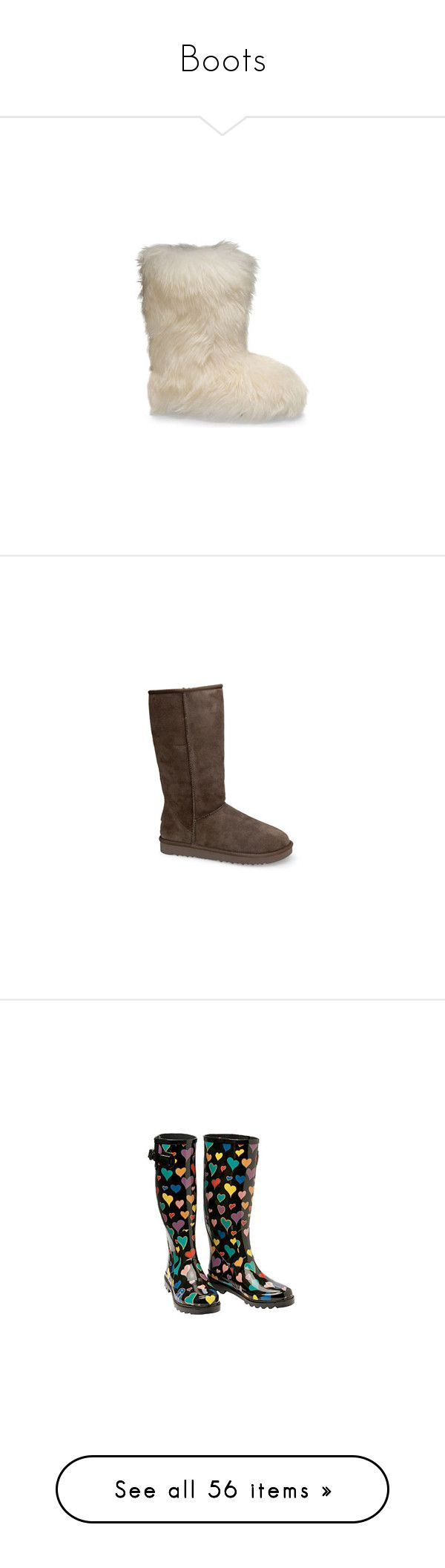 """""""Boots"""" by missskyehamilton ❤ liked on Polyvore featuring men's fashion, men's shoes, men's boots, shoes, boots, uggs, white, zapatos, mens white shoes and mens sheepskin boots"""