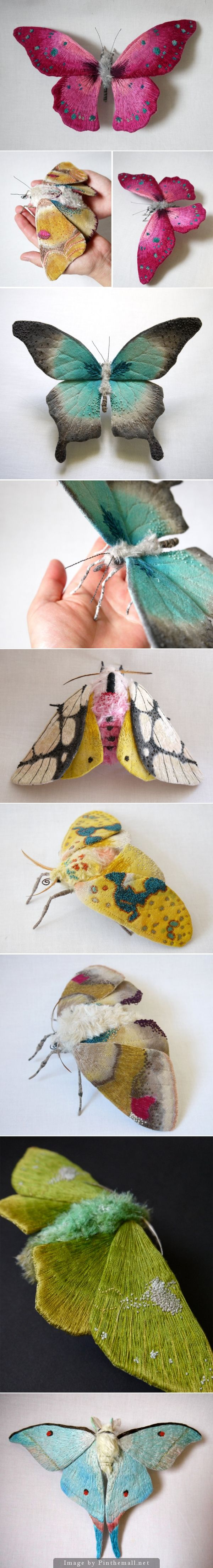 Yumi Okita textile sculptures. These are friggin beautiful. I love moths.