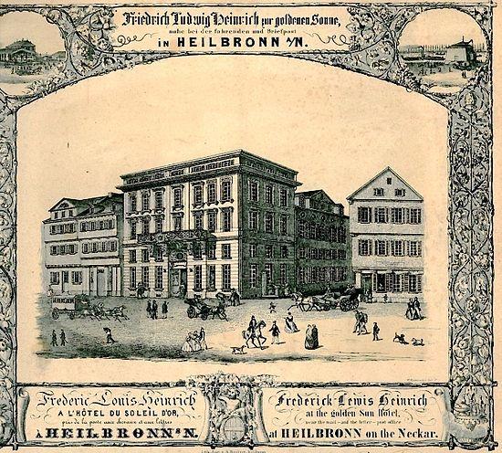 In 1793 gaat Schiller met Charlotte naar Schwaben en neemt zijn intrek in Gasthof Zur Sonne in Heilbronn