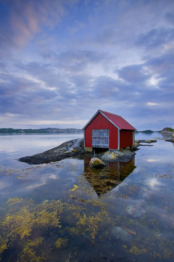 Boathouse at Eikeland. Fjord Norway. Photo by Tord Andre Oen, via 500px