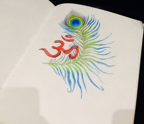 ॐ | pretty peacock feather | Drawn: 03.31.14