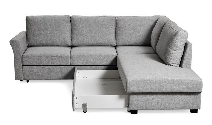 Produktbild - Torsö, Bäddsoffa med divan höger