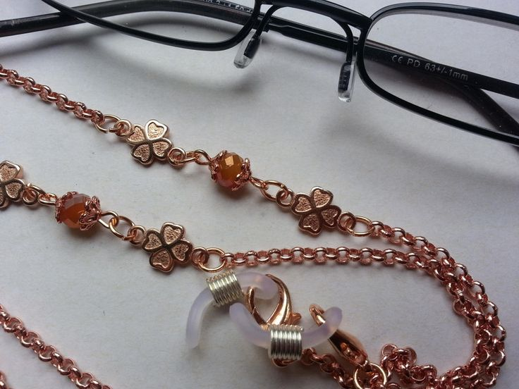 #Brillenkette rosegold Kleeblatt DQ von bigXel auf DaWanda.com