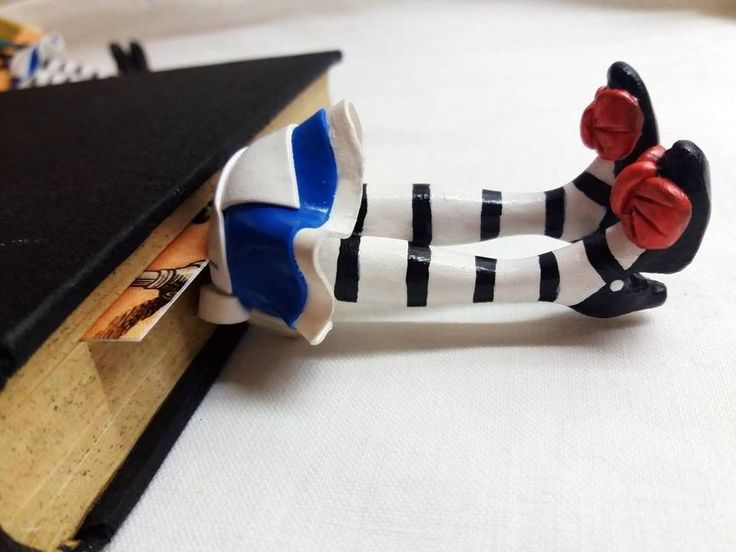 I Make Polymer Clay Book Hero Legs That Come Out Of The Book Pages | Bored Panda