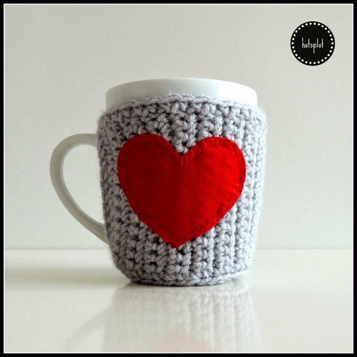 valentines crochet cup warmer walentynkowy kubek z ocieplaczem