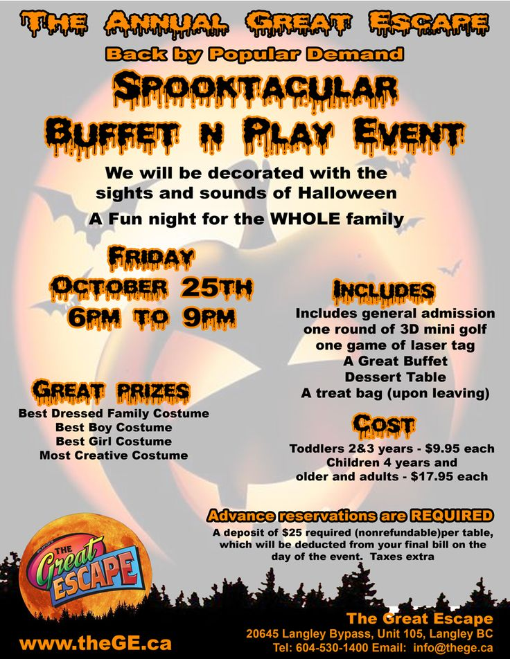 #Halloween party at The Great Escape in #Langley #BC - fun for the whole family - October 25, 2013 from 6pm to 9pm.