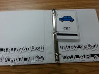 Love this. Could match the spelling for lower kiddos and have higher ones spell with just the picture.