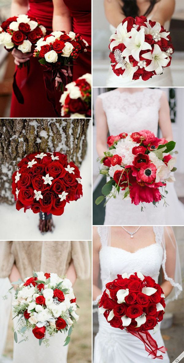 red and white winter festival wedding ideas