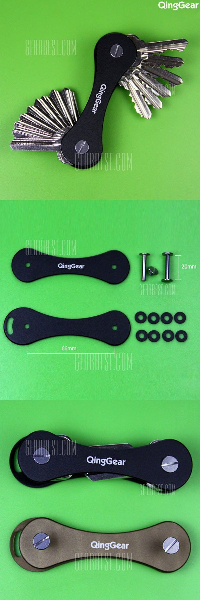 QingGear Creative Bone Shape Keys Organizer Holder Folder Key Chain Clip Pocket Tools - FREE SHIPPING - Price: $4.61 - Buy Now: https://ariani-shop.com/s/153358