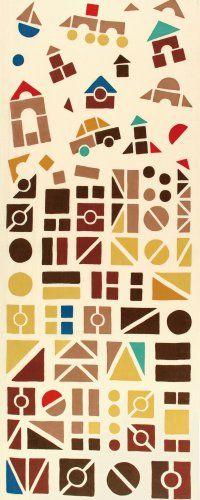 """kenema Chusen Tenugui """"Shumi Doraku"""" Tsumiki 36 x 90cm Tsumiki (つみき): Wood blocks"""