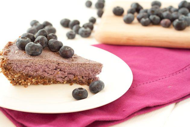 no bake blueberry cream pie from healthful pursuit