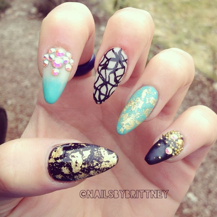 Almond nails | Lindsey's | Pinterest