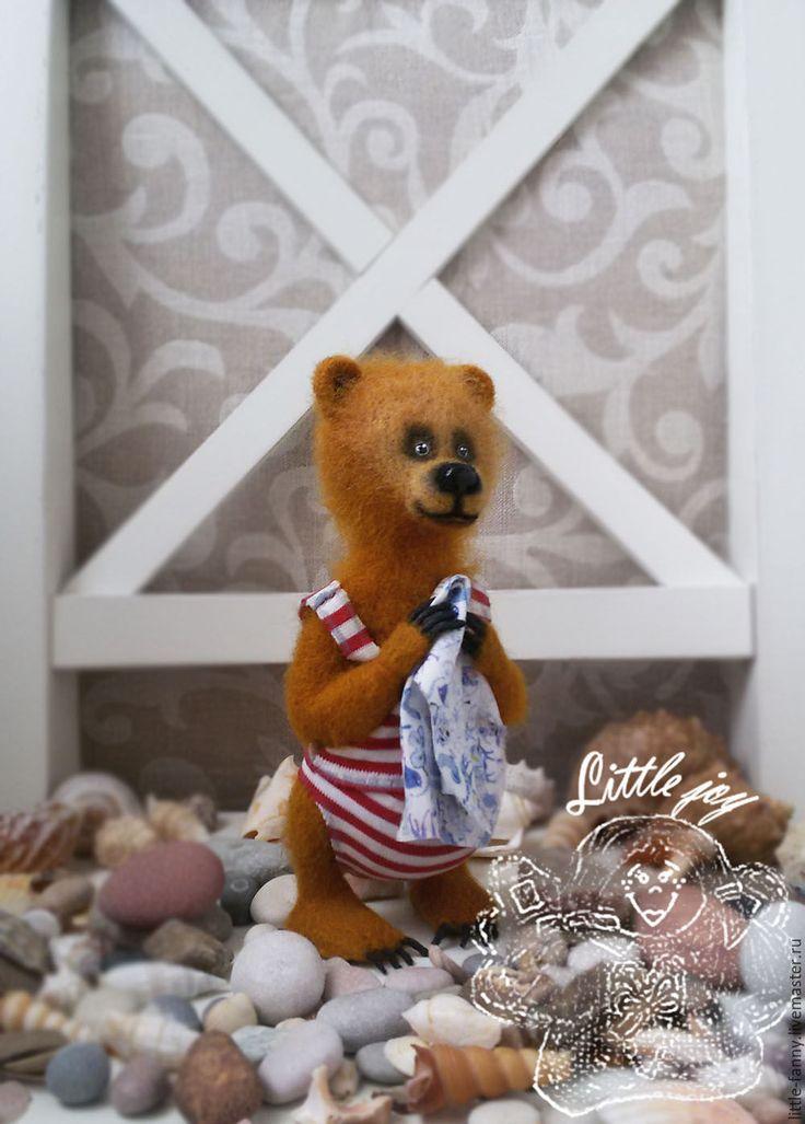 """Купить игрушка """"Мишка"""" - рыжий, коричневый, мишка, медведь, мишутка, мишенька, игрушка, войлочная кукла"""
