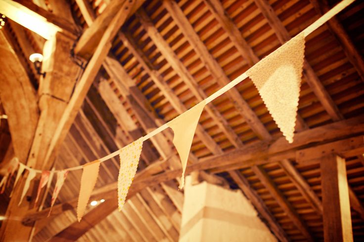 Beautiful bunting for a country wedding