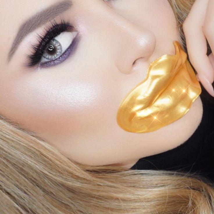 Lip mask gold