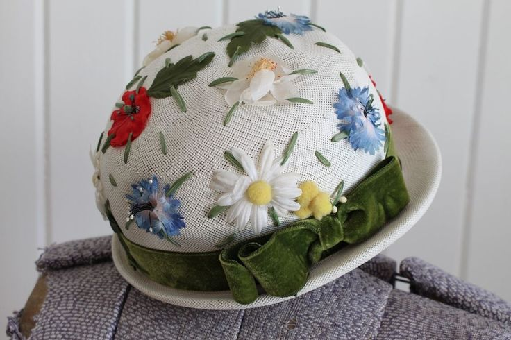 Lord N Taylor Vintage 60's White Floral Hat Poppys and Daisys Easter Hat | Clothing, Shoes & Accessories, Vintage, Vintage Accessories | eBay!