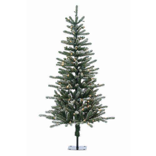 Flocked Bridgeport Pine Pre-Lit Full Christmas Tree by Sterling Tree Company - Christmas Trees at Hayneedle