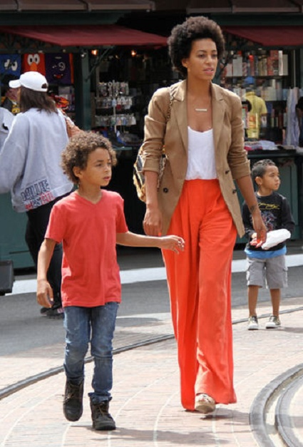 Solange and son