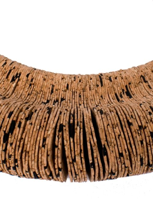 Flow  Cork Necklace . Portuguese Independent Brand of Contemporary Jewellery