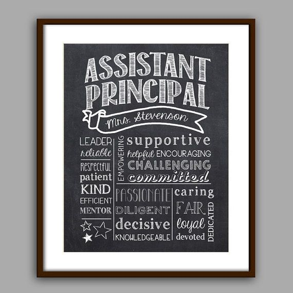Assistant Principal Gift Principal Chalkboard by PrincessSnap