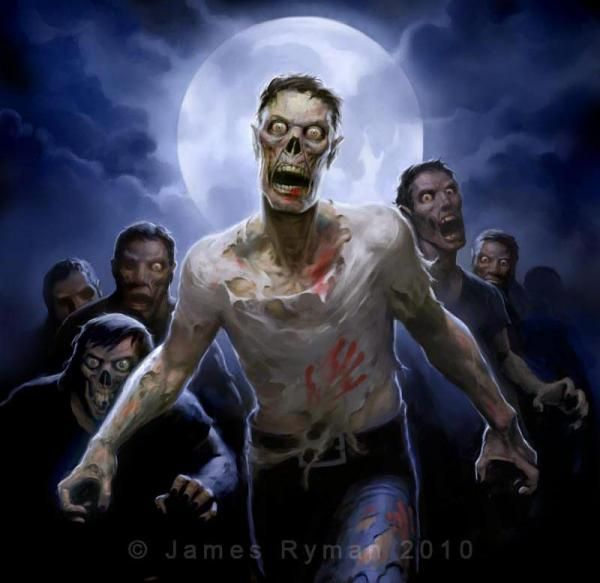 Zombies Artwork by James RymanZombies Apocalypse, Zombie Horror Art, Walks Dead, Zombies Artworks, Dark Art, Zombies Monsters, Artists Reference, Monsters Horror, Zombies Horde