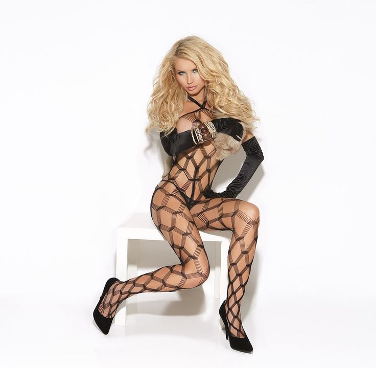 Diamond Net Bodystocking Vivace OS One Size Women Black #ElegantMoments
