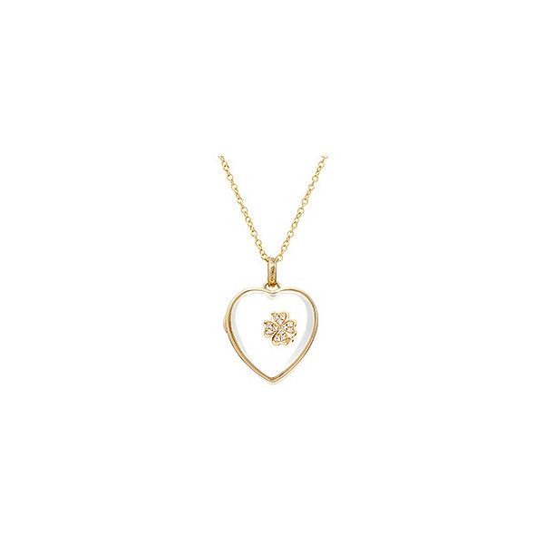 Loquet 14kt Heart Locket (3,735 CAD) ❤ liked on Polyvore featuring jewelry, pendants, heart locket, 14k charm, charm pendant, chain jewelry and clover jewelry