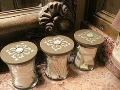 Reuse old candle jars... These are Woodwick candles, I can tell!
