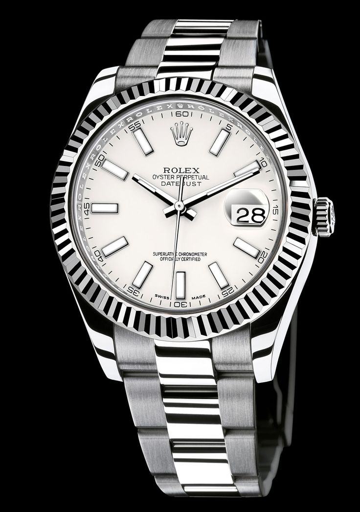 Rolex Date Just II, 41mm, white dial, white gold bezel